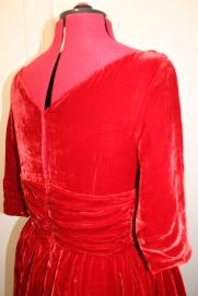 50s red velvet dress