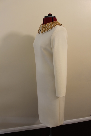 Late 60s style wool crepe dress