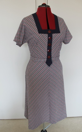Early 1930s style seersucker cotton dress
