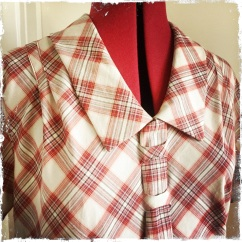 Late 1920s plaid dress
