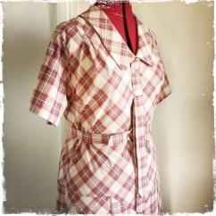 Late 1920s plaid dress
