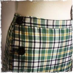 Mid-1920s style plaid skirt