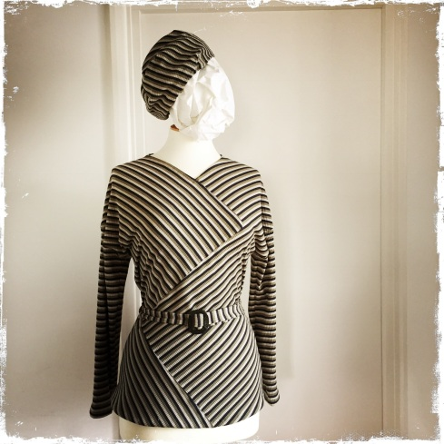 Early 1930s style cotton jersey jumper