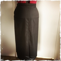 Early 1930s style wool skirt