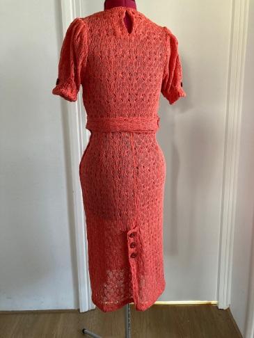 Early-mid 1930s style crochet knit jumper&skirt set